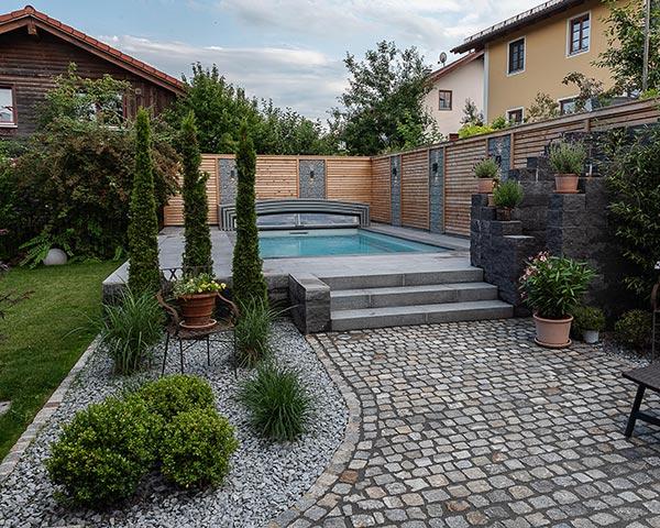 Gartengestaltung mit Schlosser Gartenbau